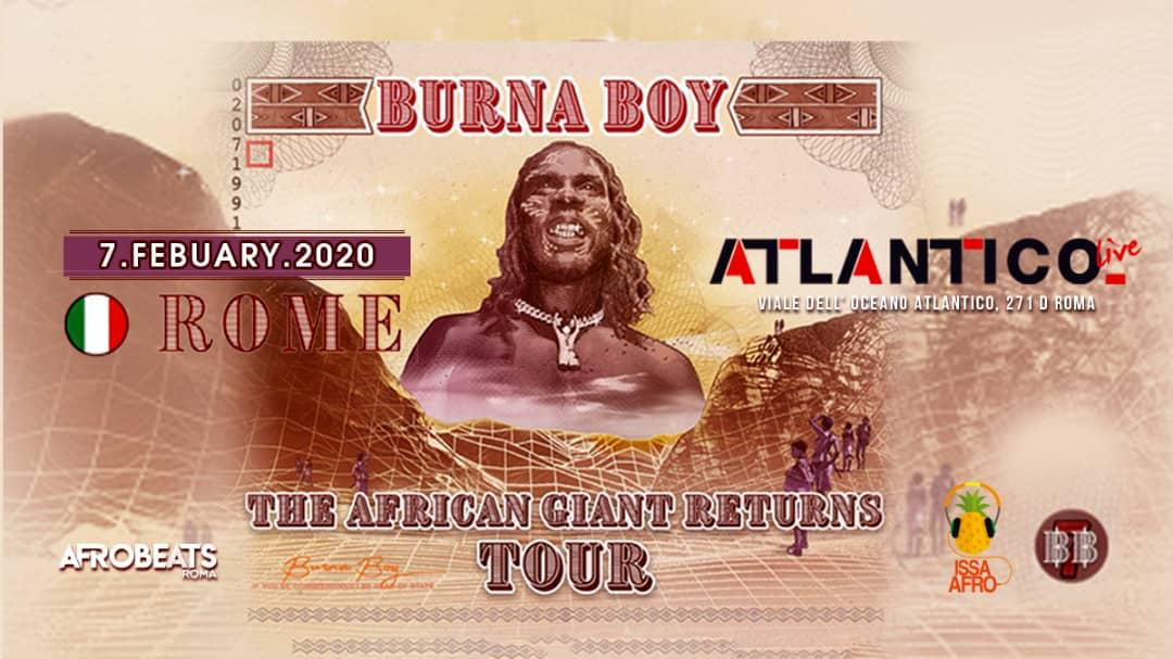 BURNA BOY FOR THE FIRST TIME IN ITALY